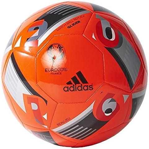 adidas Euro16 Glider - Balón de fútbol, color rojo / negro, talla 5