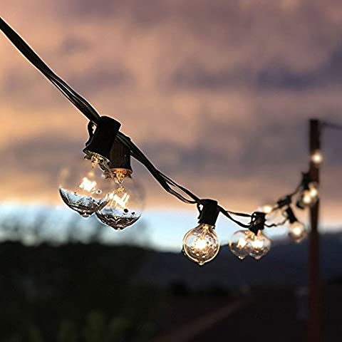 Frideko Modern 25 ft 25 G40 Bulbs (Included) Heavy Duty String Light with Waterproof End to End for Roof and Garden Party Umbrella Lights Restaurant Backyard and Eaves Lights (UK