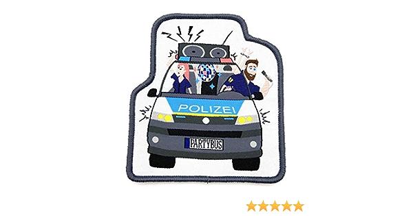Polizeimemesshop Polizeipartybus Textil Patch Auto