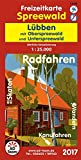 Freizeitkarte Spreewald Lübben (Ausgabe 2017): mit Oberspreewald und Unterspreewald 1:25.000 wetter- und reißfest