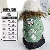 Y-Hui Herbst und Winter Fell mit dicker Schädel vier Teddy Welpen Hund Kleidung Kleidung kleines Haustier Kleidung, M