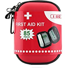I GO Erste-Hilfe-Kit für das Überleben und Notfälle (85 Stück) Licht, wasserdicht, kompakt und umfassend - Perfekt für Heim, Auto, Road Trips, Sport, Camping, oder jede andere Aktivitäten im Freien