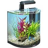 Tetra AquaArt Explorer Line Aquarium Komplett-Set 30 Liter anthrazit (gewölbteFrontscheibe, langlebige LED-Beleuchtung, ideal für die Haltung von Krebsen) anthrazit, 30 liters