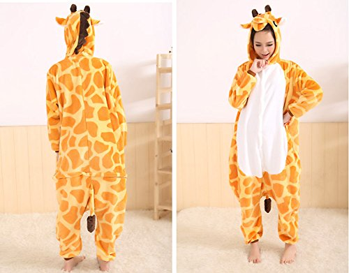 Tonwhar Kigurumi Pyjama Adulte Anime Cosplay Halloween Costume Onesie Girafe