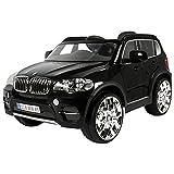 Rollplay Elektrofahrzeug mit Fernsteuerung und Rückwärtsgang, Für Kinder ab 3 Jahren, Bis max. 35 kg, 6-Volt-Akku, Bis zu 4 km/h, BMW X5 SUV, Schwarz