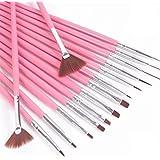 Genuine Brand Sillenorth 15 Pcs Nail Art Painting Drawing Penselegant Nail Dotting Pen For Uv Kit Gel Diy Nail Brush Tools Set Pink