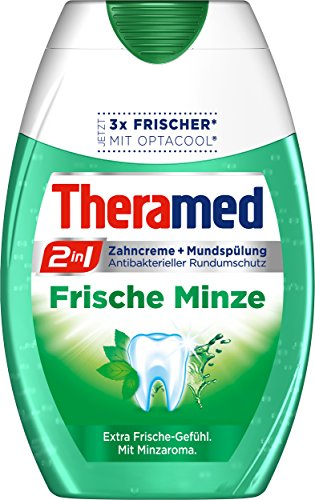 Theramed Zahncreme 2in1 Frische Minze, 4er Pack (4 x 75 ml)