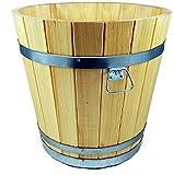evama Hochwertiger Übertopf, Blumentopf, Holzkübel aus Robustem Hochwertigem Holz - in Vielen Größen erhältlich (500 x 500)