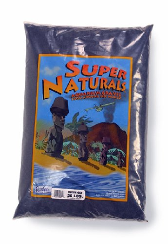 Carib Sea ACS00821 Tahitian Moon Sand for Aquarium, 20-Pound, Black 1