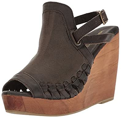 Very Volatile Women's Carry Wedge Sandal, Grey, 7 B US