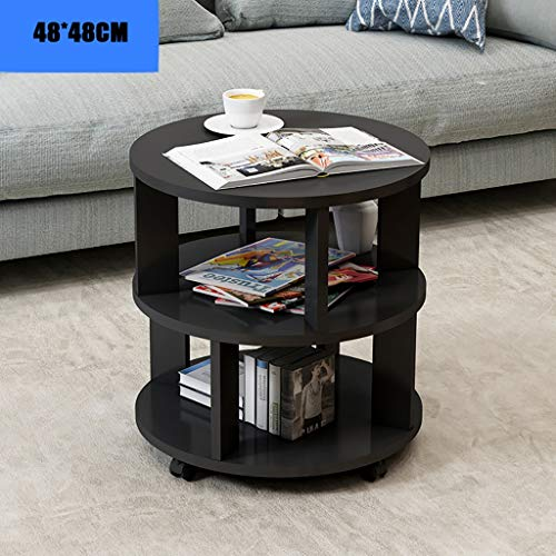 Beistelltisch, einfaches kleines Schlafzimmer modernes Zuhause kleinen Couchtisch, kreativen zufälligen kleinen Tisch aus Hartholz (Farbe : A, größe : 48 * 48CM) - Schlafzimmer Modernen Beistelltisch