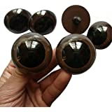 Erioctry 16MM: Pack Of 100 10mm/14mm/16mm Brown Plastic Safety Eyes For Bear Doll Stuffed Animals Puppet Doll Making (16MM)