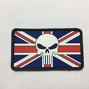 Punisher Drapeau Union Jack–Airsoft Militaire Moral Patch