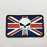 Punisher Union Jack Flag - Airsoft Military Morale Patch