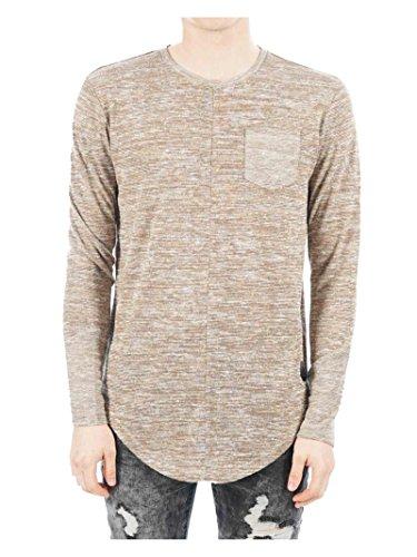 Project X Paris Long Sleeved Oversized Tee Shirt 88162220 - XL, Beige