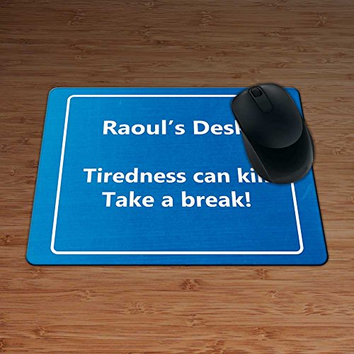 raouls-desk-tiredness-can-kill-take-a-break-funny-motorway-sign-personalised-premium-mouse-mat-5mm-t