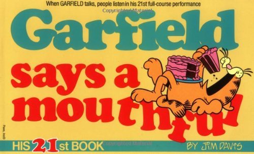Garfield Says a Mouthful by Jim Davis (September 24,1991)