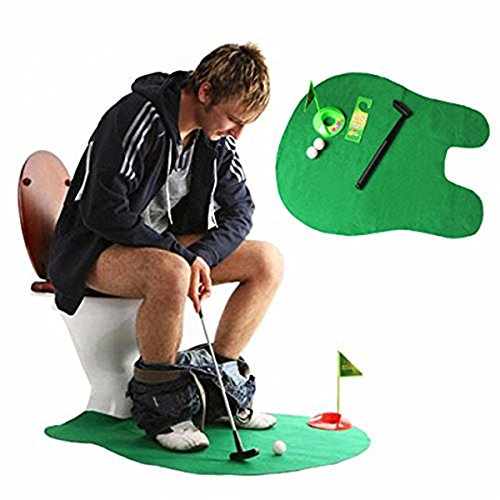 Golf WC-Zeit Golf Spiel für Kids Herren Funny Neuheit Spielzeug Training Accessory (Wc-golf-spiel)