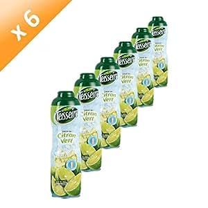 TEISSEIRE Sirop Citron Vert 60cl (x6)