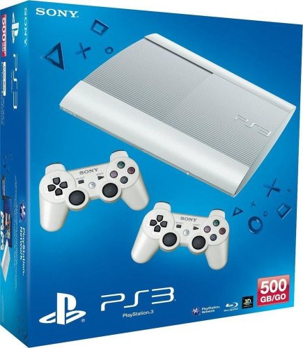 PlayStation 3 - Konsole Super Slim 500 GB weiß (inkl. 2 DualShock 3 Wireless Controller weiß) (Playstation 3 Move Bundle)