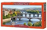Castorland C-400096-2 - Vltava Bridges in Prague, Puzzlee 4000-teilig, Klassische Puzzle