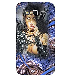 PrintDhaba Warrior Girl D-4099 Back Case Cover for SAMSUNG GALAXY GRAND 2 (Multi-Coloured)