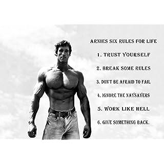 Arnold Schwarzenegger (2) Motivational Inspirational Love Life Quote Words Belive Determination Best Color Photo Picture Unique Print A3 Wall Poster