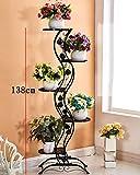 ZENGAI Europäischer Stil Blumenrahmen Weiß Wohnzimmer Indoor Multi - Storey Blumen Regal Balkon Bonsai Rahmen,3 Farboptionen (Farbe : B, größe : 140cm)