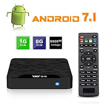 Android TV Box - VIDEN W1 Newest Android 7.1 Smart TV Boxsets, Amlogic S905W Quad-Core, 1GB RAM & 8GB ROM, 4K Ultra HD, Support Video Encoder for H.264, WIFI Media Player
