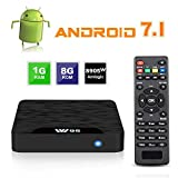 Smart TV BOX Android 7.1 - VIDEN W1 Mini TV Box 2018 Neueste Amlogic S905W Quad Core Prozeßor, 1G RAM & 8G ROM, 4K Ultra HD H.265, 2 x USB-Anschluss, HDMI, WiFi Media Player