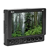 IKAN VXF7 17,8 cm (7 Zoll) 4K Full HD HDMI/3G-SDI on-Kamera Monitor mit Canon LP-E6 und Sony L Batterie Adapter Schwarz