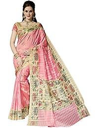 Bhavi Saree Tassar Silk Saree (Bhvp13348_Pink)