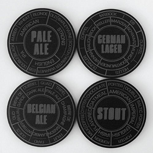 Pop Chart LAB - Untersetzer Charcoal Acrylic Beer Coaster Set - Lab Coaster Set