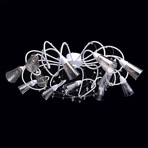 Industriedesign art-deco Deckenleuchte Kronleuchter xl modern weißes Metall - 2