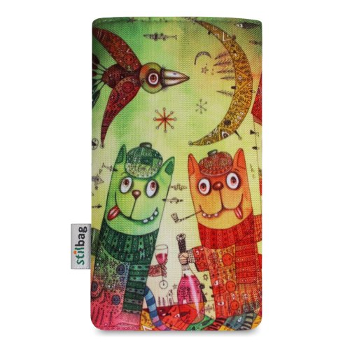 Stilbag Tasche 'MIKA' für Apple iPhone 4/4S - Design: Fairy Tree Tipsy Cats