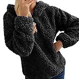 Subfamily-Pullover Straight-Zip Damen Lange Sweatjacke Kapuzenjacke Sweatshirtjacke Mit Kapuze Und Fleece-Innenseite Wahlweise Mit Teddy-Futter