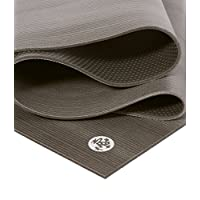 Manduka Pro Black Yoga Mat 85 /Chromite, 216 cm long; 66 cm wide; 6 mm thick.