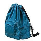 Longzjhd Wasserdicht Kordelzug Rucksack Schwimmen Tasche Im Freien Sport Tasche Tasche mit großen Tasche für Erwachsene Kinder Kinder Jungen Mädchen Turnbeutel Unisex Rucksack (Blau)