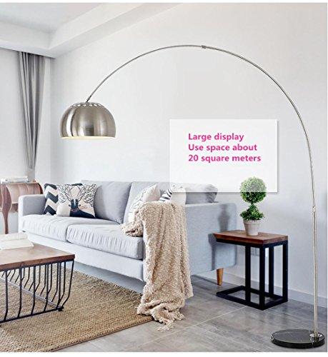 Quadrat Papier Schatten (TSJT-Fischen Fußbodenlampe Wohnzimmer Schlafzimmer Studie Nordic kreative LED moderne einfache Edelstahl vertikale Stehleuchte , large)