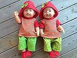 Puppenkleidung handmade Sommerset + Schuhe für Baby Born little Chou Krümel Muffin Puppen Gr. 43...