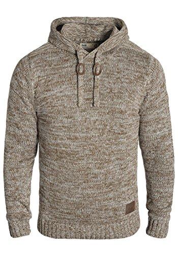 !Solid Pluto Herren Winter Pullover Strickpullover Kapuzenpullover Grobstrick Pullover mit Kapuze, Größe:L, Farbe:Dune (5409)