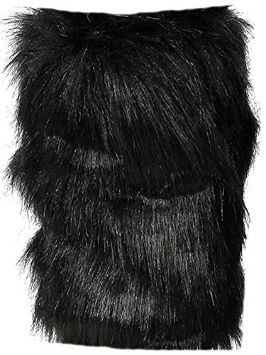 Simplicity Damen Winter Webpelz Stiefel Manschette, Stulpen, damen, schwarz (Stiefel Furry Damen)