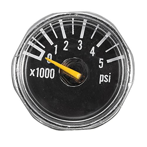 DyNamic Micro Gauge 1 zoll 25mm 0 bis 5000 psi Hochdruck für HPA Paintball Tank CO2 PCP - Paintballs Co2-tank