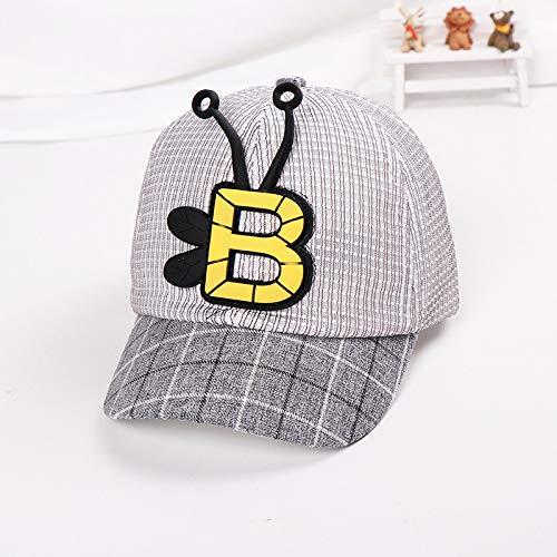 Best Kostüm Of British - mlpnko Bär Cartoon Alphabet Kinder Baseball Cap Baby Mütze Kinder Hut atmungsaktiv Mesh Cap schwarz 47-49cm geeignet für 1-3 Jahre alt