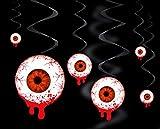 Feste Feiern Halloween Deko I 3 Teile Deckenhänger Spiralen Swirl Blutiges Auge Happy Horror Grusel Party