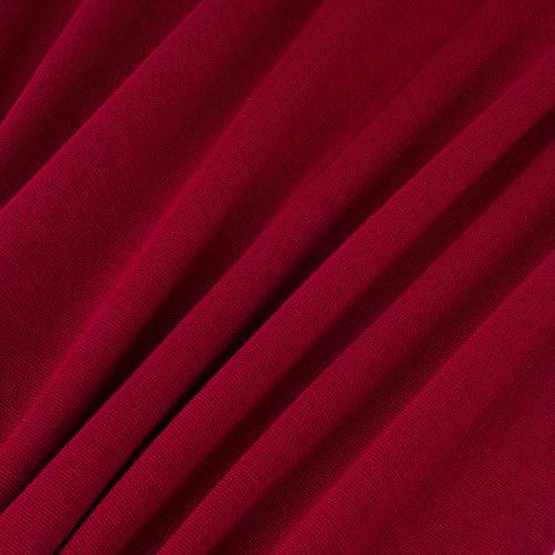 HOMEYEE Frauen elegantes Retro Patchwork beiläufiges Weinlese Abend Abnutzungs Partei Kleid B358(EU 38 = Size M,Rot + Schwarz) -