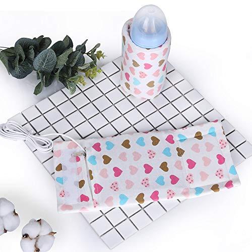 Decdeal USB Babykostwärmer Flaschenwärmer Tragbare Muttermilchwärmer 40 ℃ Konstanttemperatur