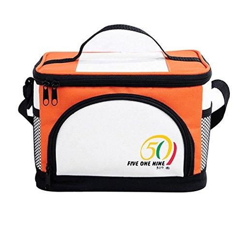 AISI de taille moyenne Sac repas isotherme pique-nique sac isotherme avec bandoulière et poignée S orange