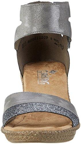 Rieker 66544, Sandali con Cinturino alla Caviglia Donna Argento (Altsilber/steel)