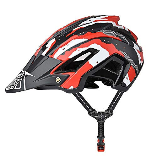 GJBHD Fahrradhelm, Code 56-61 cm, Abnehmbare Sonnenblende, Verstellbare Passform, 15 Vetns MTB Rennradhelm, Geeignet Für Erwachsene Männer Und Frauen Red